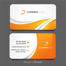 Card Design Template Modern Business Card Template With Abstract Design Vector