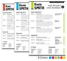 If a resume template like the one above seems too flashy for you, the job  you're applying for, or the industry you work in, try adding a little color  ...