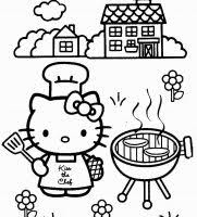 This hello kitty summer coloring page features a picture of hello kitty with a a cup of cool water on hand. Hello Kitty Coloring Pages For Kids Hello Kitty Colouring Pages Kitty Coloring Hello Kitty Coloring
