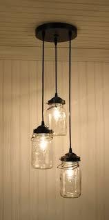 cottage mason jar chandelier. over the sink mason jar light cottage chandelier
