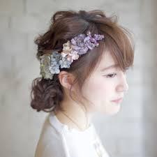 結婚式 ヘアアレンジ セミロング ショートnalu Hair ナルーヘアー