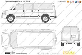 The-Blueprints.com - Vector Drawing - Chevrolet Express Cargo Van