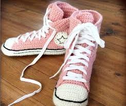 Converse Slippers Crochet Pattern