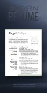 Modern Resume Style Esty Easy To Use Modern Resume Template Find It On Etsy Work