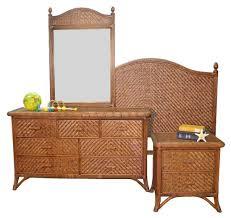 Jamaica Rattan Cappucino Bedroom Suite from Summit Design