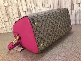 gucci 409527. gucci 409527 gg supreme top handle bag red/rosy fall 2015