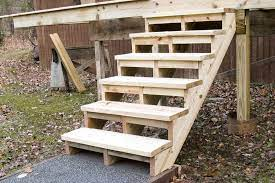 building and installing deck stairs