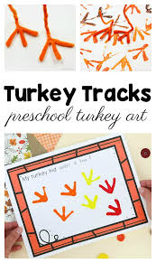 Turkey Track Designs How To Easily Make Turkey Tracks Turkey Art With Kids