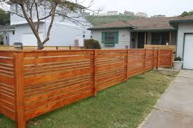 Horizontal Fencing Ideas How To Build A Horizontal Wood Fence Ideas
