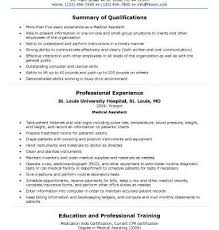 Generic Medical Assistant Sample Resume Examples For Job