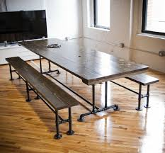 Industrial Looking Kitchen Hand Made Industrial Style Conference Table By Emmor Works