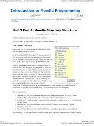 Introduction to Moodle Programming: Unit 5 Part A: Moodle Directory ...