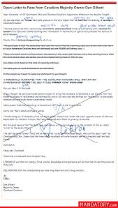 man file gilbert letter