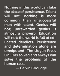 Calvin Coolidge Quote Shawny Thoughts Pinterest Calvin Beauteous Calvin Coolidge Quotes Persistence