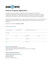 honors program application by sva nyc school of visual arts