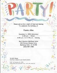 Sample Party Invite Party Invitation Letter Rome Fontanacountryinn Com