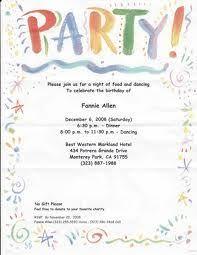dinner invitation sample party invitation letter rome fontanacountryinn com
