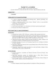 Psychologist Counselor Resume Example Reentrycorps