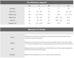 Fox Size Chart Fox Womens Helmet Size Chart Vast