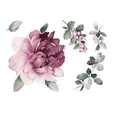 Temporary Tattoo Buy Violet Mood A Luxurious Peony Color