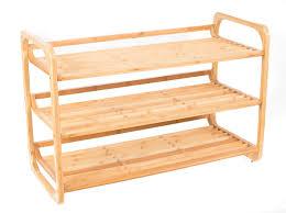 birdrock home 3 tier bamboo shoe rack environmentally friendly fits 9 12 shoes