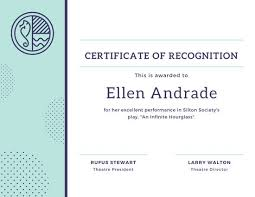 Certificate Recognition Blue And Yellow Strokes Recognition Certificate Templates