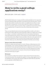 College Admission Essay Sample Popular College Application