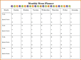 Monthly Dinner Planner Monthly Meal Planner Free Printable Dinner Template
