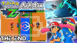 ASH VS ALAIN🔥 | Pokemon Xyz Final Battle Gameplay | THE END