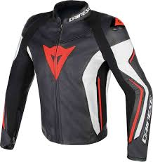dainese assen motorcycle leather jacket perforated clothing jackets black white red