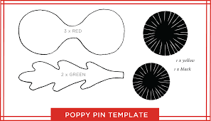 poppy template poppy template for remembrance day