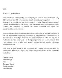 Referral Letters Sample Employee Referral Letter Template