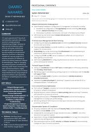 Modern Network Administrator Resume Technology Resume Examples And Samples