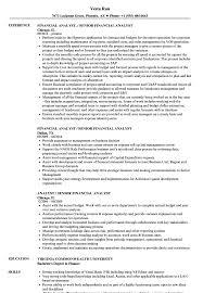Financial Analyst Resume
