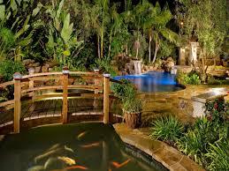 Diy Pool Waterfall Pond Diy Backyard Fountains And Waterfalls Above Ground Fish