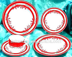 another picture for clear red glass dinnerware sets plate set libbey