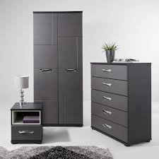 modern grey and black bedroom furniture consort eva