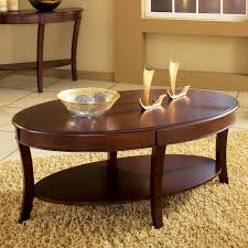 new oval wood coffee table