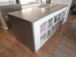 engineered concrete waterfall style countertop