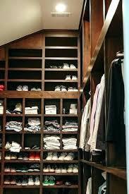 sloped ceiling clothes rod bracket slanted ceiling closet ideas view full size slanted ceiling closet organizer