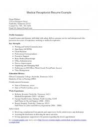 Free Medical Receptionist Resume Examples