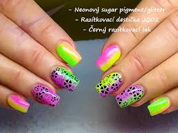 Neonový Glitter Modrý Sugar Efekt P212