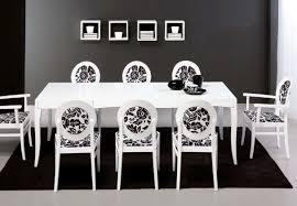 fascinating black dining room rug decoration under white dining table set including creative shelves on the