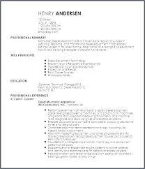 Sample Resume Auto Mechanic Automotive Mechanic Sample Resume Podarki Co
