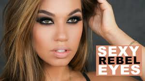 y rebel eyes makeup black brown smokey eye makeup tutorial eman you