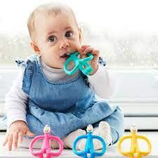 Dây buộc em bé silicone dễ thương gấu răng hàm cho trẻ sơ sinh trẻ em gái  dụng cụ răng cho bé trung tính an toàn không độc hại - Sắp xếp