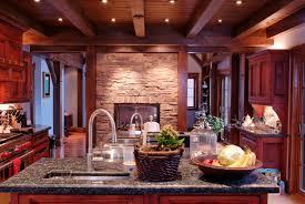 Dark Wood Kitchen Cherry Wood Kitchen Cabinets For Home And Interior