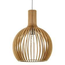 fioino guarin small timber veneer pendant light