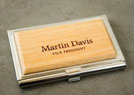 Personalized Business Card Case From Engravemethis