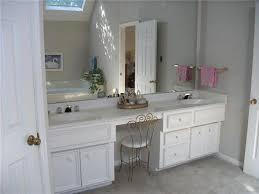 double vanity with makeup area. Double Sink Bathroom Vanity With Makeup Area In Master Bath The Vanity Includes Double Sinks Makeup Area Tiled To Pinterest
